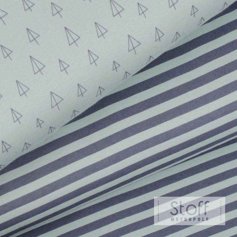 weicher interlock jersey mit streifen in mint 100 organic cotton 1. Black Bedroom Furniture Sets. Home Design Ideas