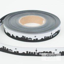 skyline webband die ostsee 16 mm schwarz wei 1 70. Black Bedroom Furniture Sets. Home Design Ideas
