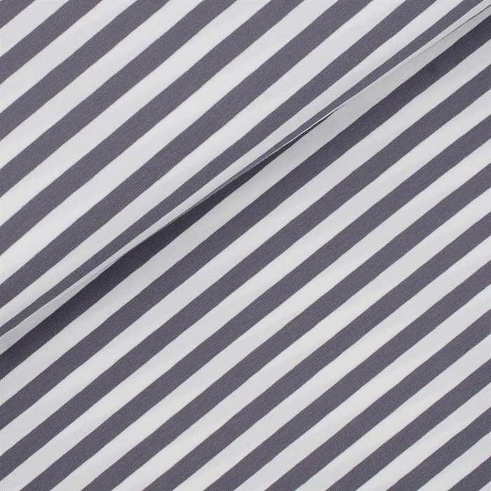 sch ner ringeljersey stoff dicke streifen grau wei st. Black Bedroom Furniture Sets. Home Design Ideas