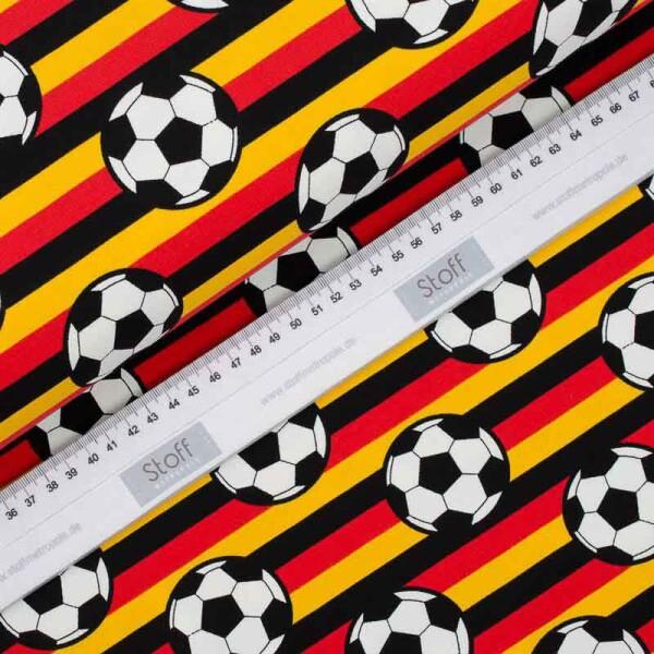 Cooler Jersey Stoff Fussball Und Streifen Schwarz Rot Gold